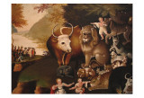 Peaceable Kingdom Plakater av Edward Hicks
