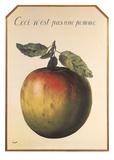Ceci n'est pas une pomme Posters af Rene Magritte
