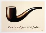 A traição das imagens Poster por Rene Magritte