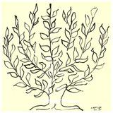 Busken Serigrafiprint (silkscreentryck) av Henri Matisse