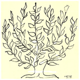 O arbusto Serigrafia por Henri Matisse