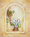 Vase of Flowers and Fresco Background III Poster af C. Beneforti