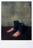Le modèle rouge Affiches par Rene Magritte