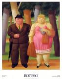 Una Coppia, 1999 Plakater av Fernando Botero