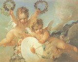 Putti Con Ghirlande Prints by Lucien Boucher