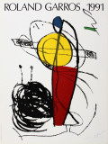 Roland Garros, 1991 Collectable Print by Joan Miró