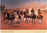 A Dash for Timber Posters av Frederic Sackrider Remington