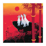 Three Goats Impressão giclée