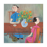 Two Women at Table Giclée-Druck
