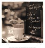 Café, Champs-Élysées Prints by Alan Blaustein
