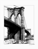 Brooklyn Bridge, New York, c.1925 Poster