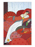 Seated Woman Reproduction procédé giclée par Georges Barbier