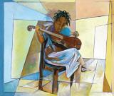 Little Musician II Posters av Nathaniel Barnes