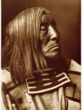 Portrait of Famous Warrior, Lone Tree-Apsroke, Born in 1828 Photographic Print by Edward S. Curtis
