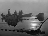 A Sardine Fleet Working Nets Off Eastport, Maine Fotografisk tryk af Luis Marden