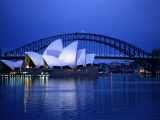 Harbor and Opera House, Sydney, New South Wales, Austalia Fotografisk tryk af Sam Abell