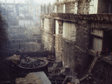 Housing for the Turbines Dwarfs Workers as the Dam Rises Photographic Print by O. Louis Mazzatenta