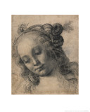 Head of a Woman Giclée-Druck von Andrea Verrocchio