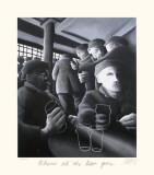 Where's All the Beer Gone Samlertryk af Mackenzie Thorpe