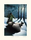Winter Moonlight Samlertryk af Mackenzie Thorpe