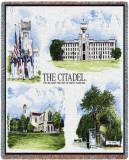 The Citadel Chapel Throw Blanket