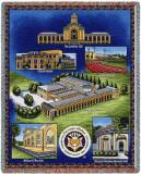 Carnegie Mellon University, Collage Throw Blanket