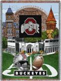 Ohio State University, Stadium Collage Throw Blanket