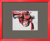 Arma, cerca de 1981-82 (preto e vermelho sobre branco) Pôsters por Andy Warhol