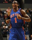 New York Knicks v Charlotte Bobcats: Amar'e Stoudemire Foto af Kent Smith