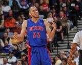 Detroit Pistons v Golden State Warriors: Tayshaun Prince Foto af Rocky Widner
