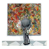 """Art Connoisseur"", January 13,1962 Gicléetryck av Norman Rockwell"