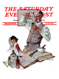 """""""Pharmacist"""" Saturday Evening Post Cover, March 18,1939 ジクレープリント : ノーマン・ロックウェル"""