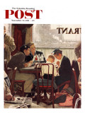 """""""Saying Grace"""" Saturday Evening Post Cover, November 24,1951 Giclée-tryk af Norman Rockwell"""
