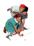 """""""Marble Champion"""" or """"Marbles Champ"""", September 2,1939 Giclée-Druck von Norman Rockwell"""