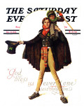 """Tiny Tim"" or ""God Bless Us Everyone"" Saturday Evening Post Cover, December 15,1934 Giclée-Druck von Norman Rockwell"