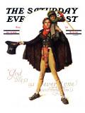 """Tiny Tim"" or ""God Bless Us Everyone"" Saturday Evening Post Cover, December 15,1934 Gicléedruk van Norman Rockwell"
