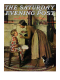 """Medicine Giver"" ""Take Your Medicine"" Saturday Evening Post Cover, May 30,1936 Reproduction procédé giclée par Norman Rockwell"