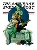 """Serenade"" Saturday Evening Post Cover, September 22,1928 Gicléedruk van Norman Rockwell"