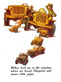 """""""The Wonderful Life of Wilbur the Jeep"""" E, January 29,1944 Giclee Print by Norman Rockwell"""