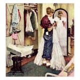 """""""Prom Dress"""", March 19,1949 Giclee-trykk av Norman Rockwell"""