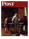 """Piano Tuner"" Saturday Evening Post Cover, January 11,1947 Giclee-trykk av Norman Rockwell"