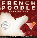 Martini-Bar French Poodle Kunstdrucke von Stephen Fowler