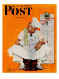"""""""Thanksgiving Day Blues"""" Saturday Evening Post Cover, November 28,1942 Giclee Print by Norman Rockwell"""