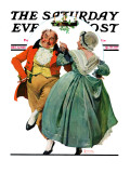 """""""Christmas Dance"""" or """"Merrie Christmas"""" Saturday Evening Post Cover, December 8,1928 Giclee Print by Norman Rockwell"""