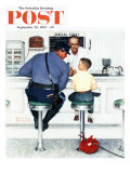 """""""Runaway"""" Saturday Evening Post Cover, September 20,1958 Reproduction procédé giclée par Norman Rockwell"""