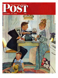 """""""Dewey v. Truman"""" Saturday Evening Post Cover, October 30,1948 Giclee Print by Norman Rockwell"""
