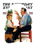 """""""Magician"""" or """"Card Tricks"""" Saturday Evening Post Cover, March 22,1930 Giclee Print by Norman Rockwell"""