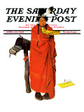 """See America First"" Saturday Evening Post Cover, April 23,1938 Reproduction procédé giclée par Norman Rockwell"