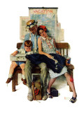"""Home from Vacation"", September 13,1930 Reproduction procédé giclée par Norman Rockwell"