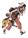 """""""Rosie to the Rescue"""", September 4,1943 Giclee Print by Norman Rockwell"""